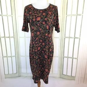 LuLaRoe Floral Sheath Bodycon Stretch Dress